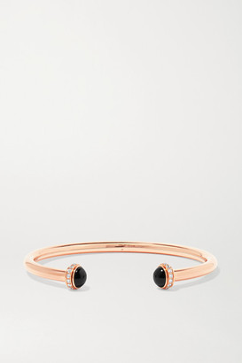 Piaget Possession 18-karat Rose Gold, Onyx And Diamond Cuff - S