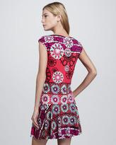 Ali Ro Floral-Print Cap-Sleeve Jersey Dress
