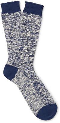 Melange Home Mr P. Ribbed Cotton-Blend Socks