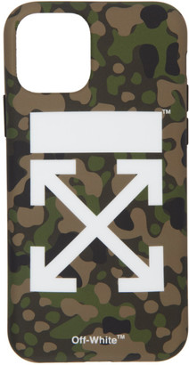 Off-White SSENSE Exclusive Green Camo Arrows iPhone 11 Pro Case