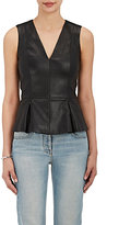 The Row Women's Monasta Leather Peplum Top