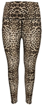 Ideology Leopard-Print Cropped Leggings, Created for Macy's