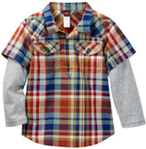 Tea Collection Cerro Plaid Double Decker Shirt (Baby & Toddler Boys)