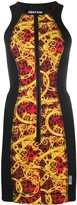 Versace panelled Baroque-print dress