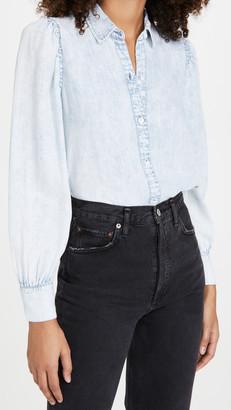 Rails Angelica Puff Sleeve Button Down Shirt