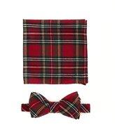 Skinny Tie Madness Tartan Bow Tie w/ Pocket Square