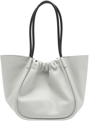 Proenza Schouler Large Ruched Leather Tote Bag - Grey