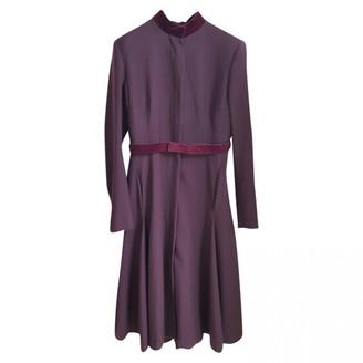 Alexander McQueen Purple Wool Coats
