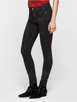 Calvin Klein Sculpted Black Coated Skinny Jeans