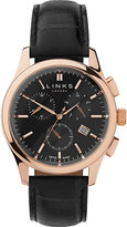 Links Of London Regent Rose Gold-plated And Leather Watch