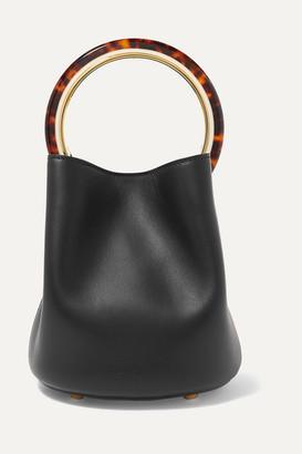 Marni Pannier Small Leather Bucket Bag - Black