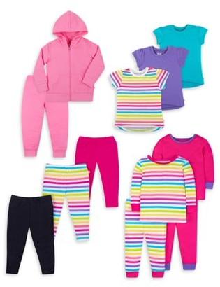 Little Star Organic Baby Toddler Girl True Brights Kids Pack, 12 Pc