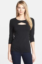 Vince Camuto Cutout Three Quarter Sleeve Top