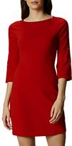 Karen Millen Press Stud Detail Knit Dress, Red