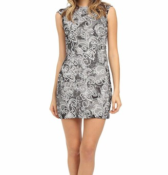 Aidan Mattox Aidan Women's Cap Sleeve Stretch Lace Cocktail and Party Dress