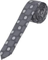 Oxford Silk Tie Spt/Chk Sknny Grey X