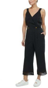 Laundry by Shelli Segal Crochet-Trim Jumpsuit