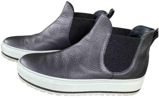 Brunello Cucinelli Anthracite Leather Ankle boots