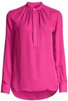 Polo Ralph Lauren Ida Silk-Blend Mandarin Collar Blouse