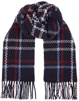 Eton Check Printed Cashmere Blend Scarf