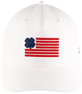 Black Clover Clover Nation 4 Adjustable Hat (Navy Clover/Red Trim/White) Baseball Caps