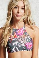 Forever 21 Tropical High Neck Bikini Top