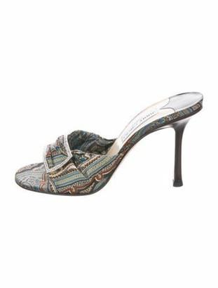 Jimmy Choo Embellished Satin Sandals multicolor