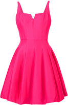 Halston fitted ruffled dress