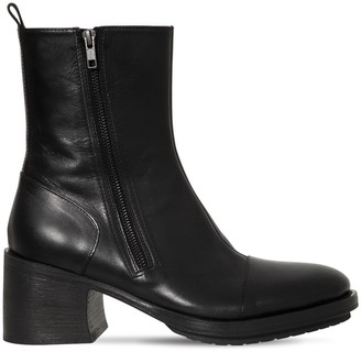 Ann Demeulemeester 75mm Zipped Leather Boots