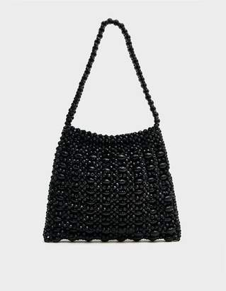 Loeffler Randall Mira Beaded Shoulder Bag in Black