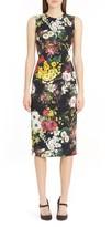 Dolce & Gabbana Women's Floral Print Stretch Silk Sheath Dress