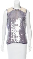 Reed Krakoff Sequin-Embellished Sleeveless Top
