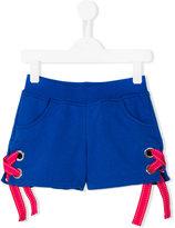 MSGM tie fastening shorts - kids - Cotton - 12 yrs