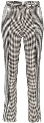 Blindness Houndstooth Print Trousers