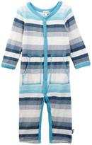 Splendid Slub Knit Jersey Stripe Romper (Baby Boys)