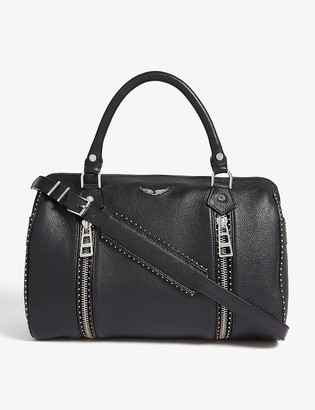 Zadig & Voltaire Sunny studded leather bowling bag