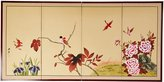 Oriental Furniture Discontinued Feb 2011 S, 36 by 72-Inch Birds on Tree Chinese Brush Art Wall Screen Painting