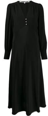 McQ buttoned V-neck silk dress