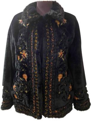 Zara Blue Faux fur Coats