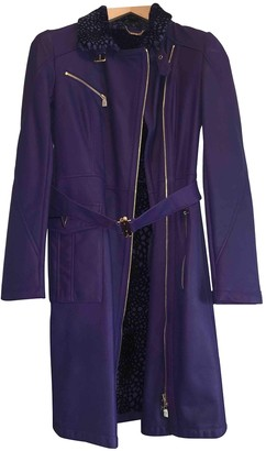Versace Purple Exotic leathers Coat for Women