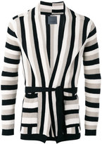 Laneus striped cardigan - men - Cotton - 52