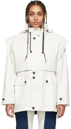 Gr Uniforma GR-Uniforma White Faux-Leather Fireman Coat