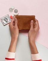 Jack Wills Tan Suede Coin Purse