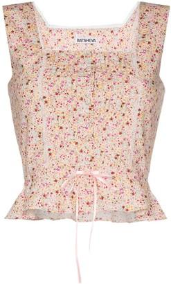 Batsheva Amy floral bustier top