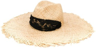 Valentino Lace-Trimmed Sun Hat