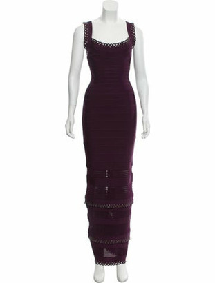 Herve Leger 2019 Bandage Gown purple