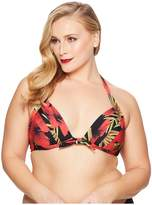 Unique Vintage Plus Size Monroe Top Women's Swimwear