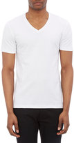Barneys New York MEN'S V-NECK T-SHIRT-WHITE SIZE S