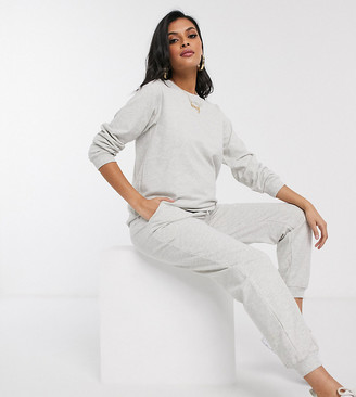 ASOS DESIGN Maternity tracksuit ultimate sweat / jogger with tie