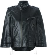 Diesel Black Gold wide sleeve zipped jacket - women - Leather/Polyester/Rayon - 44